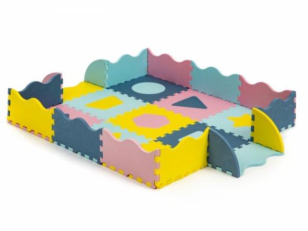 Trockene Pool Puzzle Schaumstoffmatte mit Lattenzaun 37 Elemente