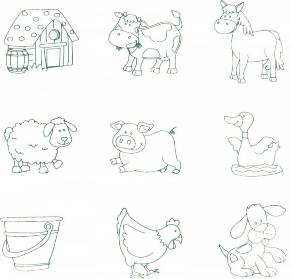 2IN1 Steckpuzzle + Stempel FARM Holzpuzzle
