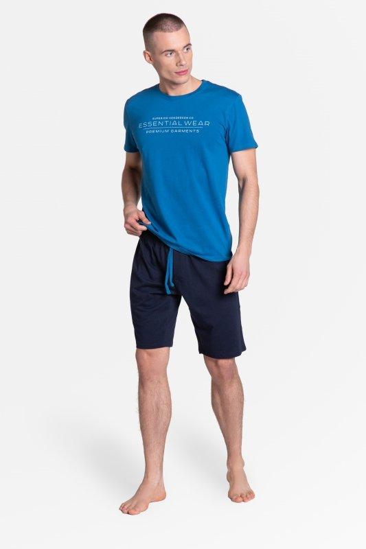 Piżama Deal 38880-55X Niebiesko-Granatowa