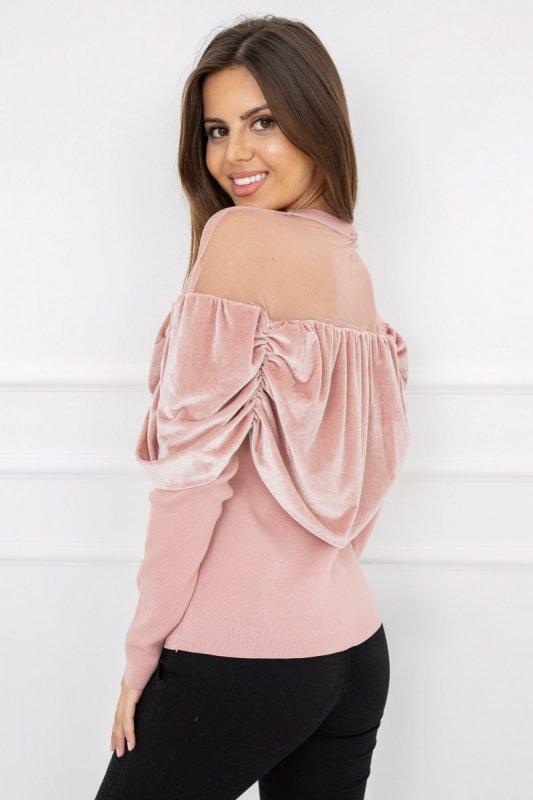Sweterek Afrodita Powder Pink G2535