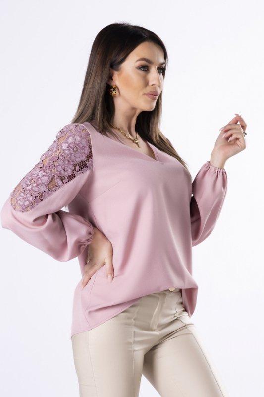 Bluzka Carla Lace M83028 Powder Pink