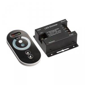 Włącznik Ściemniacz Taśm LED jednokolorowy z pilotem dotykowym V-TAC 18A 12V/216W 24V/432W VT-5115