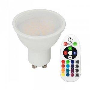 Żarówka LED V-TAC 3.5W GU10 Pilot VT-2244 4000K+RGB 300lm