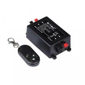 Włącznik Ściemniacz Taśm LED jednokolorowych RF Radiowy V-TAC 12V/96W 24V/192W 8A VT-4083