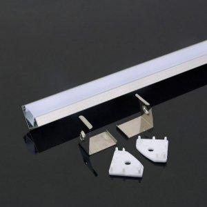 Profil Aluminiowy V-TAC 2mb Anodowany, Klosz Mleczny, Kątowy VT-8114