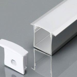 Profil Aluminiowy V-TAC 2mb Anodowany, Klosz Mleczny, Wpuszczany, Na dwie taśmy VT-8119 5 Lat Gwarancji