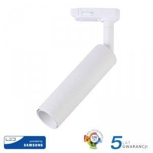 Oprawa 20W LED V-TAC Track Light SAMSUNG CHIP CRI90+ Biała VT-420 3000K 1600lm 5 Lat Gwarancji