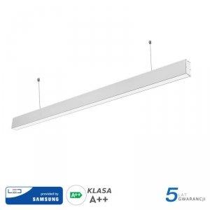 Oprawa V-TAC LED Linear SAMSUNG CHIP 40W Do łączenia Zwieszana Biała 120cm VT-7-40-W 4000K 3200lm 5 Lat Gwarancji
