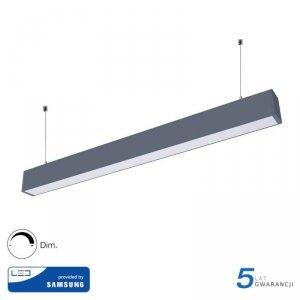 Oprawa V-TAC LED Linear SAMSUNG CHIP 60W Góra/Dół Do łączenia Zwieszana Srebrna 120cm VT-7-60 4000K 6000lm 5 Lat Gwarancji