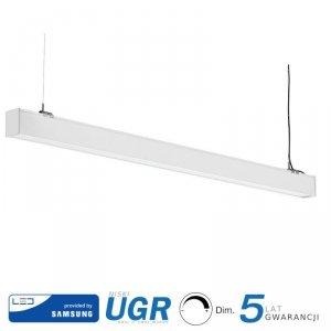 Oprawa V-TAC LED Linear SAMSUNG CHIP 40W Natynk/Zwieszana Do łączenia Biała 0-10V 120cm VT-7-43 4000K 3400lm 5 Lat Gwarancji