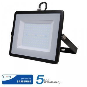 Projektor LED V-TAC 100W SAMSUNG CHIP Czarny VT-100 4000K 8000lm 5 Lat Gwarancji
