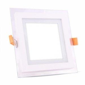 Panel LED V-TAC 18W LED Szkło Kwadrat VT-1881G 3000K 1260lm