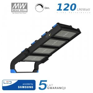 Projektor LED V-TAC 1000W SAMSUNG CHIP Mean Well Driver Ściemnialny IP66 120st VT-1003D 4000K 120000lm 5 Lat Gwarancji