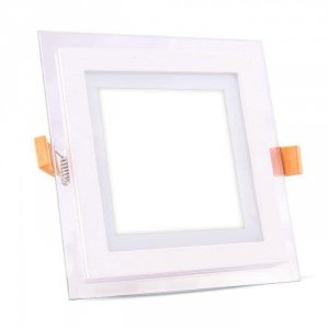 Panel LED V-TAC 12W LED Szkło Kwadrat VT-1202G 4000K 840lm
