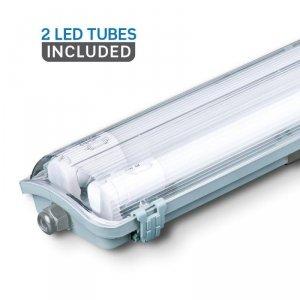 Oprawa Hermetyczna LED V-TAC PC/PC 2x150cm (2 x 22W) (Tuby LED w zestawie) VT-15022 4000K 4000lm