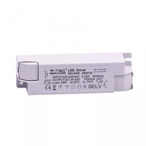 Zasilacz do Paneli LED 45W 30-42V 1050mA 230V V-TAC 5 Lat Gwarancji