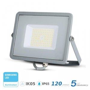 Projektor LED V-TAC 50W SAMSUNG CHIP SLIM Szary 120lm/W VT-56 6400K 6000lm 5 Lat Gwarancji