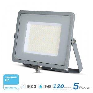 Projektor LED V-TAC 100W SAMSUNG CHIP SLIM Szary 120lm/W VT-106 6400K 12000lm 5 Lat Gwarancji