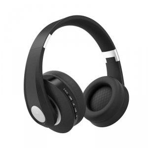 Bezprzewodowe Słuchawki Bluetooth Regulowany Pałąk 500mAh Czarne VT-6322