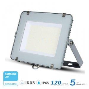 Projektor LED V-TAC 150W SAMSUNG CHIP SLIM Szary 120lm/W VT-156 6400K 18000lm 5 Lat Gwarancji