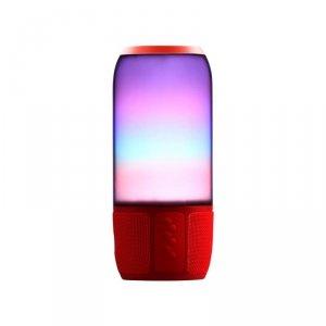 Bezprzewodowy inteligentny głośnik LED V-TAC z technologią Bluetooth 2x3W USB Micro SD Czerwony VT-7456