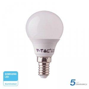 Żarówka LED V-TAC SAMSUNG CHIP 7W E14 Kulka P45 VT-270 3000K 600lm 5 Lat Gwarancji