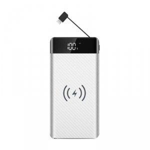 Power Bank V-TAC 20000mah Indukcja Z przewodem Micro USB Biały VT-3508