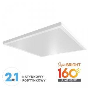 Panel LED V-TAC 25W 600x600x55mm 160lm/W Natynkowy/Podtynkowy VT-6125 4000K 4000lm
