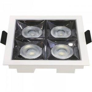 Oprawa V-TAC Downlight SAMSUNG CHIP 16W UGR19 CRI90+ 36st VT-2-16 2700K 1280lm 5 Lat Gwarancji