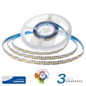 Taśma LED V-TAC SAMSUNG CHIP 2835 1200LED 24V IP20 CRI95+ 10mb 18W/m VT-10 4000K 1500lm 3 Lata Gwarancji