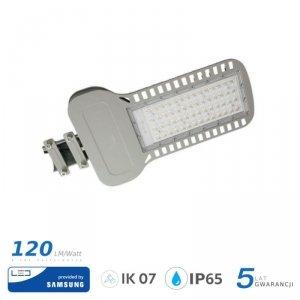Oprawa Uliczna LED V-TAC SAMSUNG CHIP 100W Soczewki 110st 120lm/W VT-104ST 4000K 12000lm 5 Lat Gwarancji