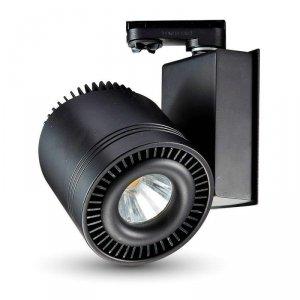 Oprawa Track Light LED V-TAC 45W COB CRI95+ Czarna VT-4545 6000K 2300lm