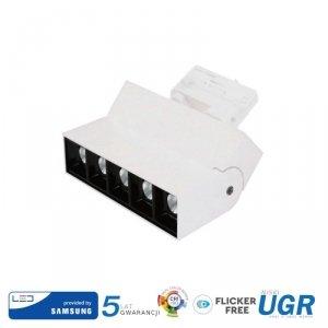 Oprawa LED V-TAC 12W Track Light SAMSUNG CHIP CRI90+ Biała VT-416 2700K 960lm 5 Lat Gwarancji