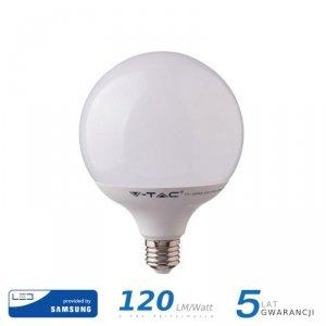 Żarówka LED V-TAC SAMSUNG CHIP 22W E27 G120 120lm/W VT-242 6400K 2650lm 5 Lat Gwarancji