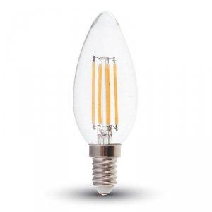 Żarówka LED V-TAC 4W Filament E14 Świeczka VT-1986 6400K 400lm