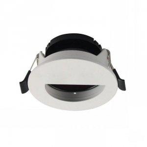 Oprawa Oczko V-TAC GU10 Okrągła z półkolem Biały+Czarny VT-884 3 Lata Gwarancji