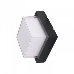 Oprawa V-TAC 7W LED Czarna Kwadrat IP65 VT-831 3000K 550lm