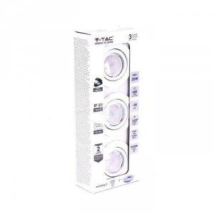 Zestaw Oczek 3x5W GU10 Białe 3x VT-3333 6400K 400lm