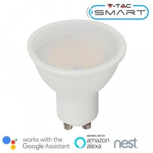 Żarówka LED V-TAC 4.5W GU10 SMART WiFi RGB+WW+CW VT-5164 RGB+2700K-6400K 290lm