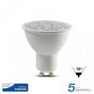 Żarówka LED V-TAC SAMSUNG CHIP GU10 6W 10st VT-249 3000K 500lm 5 Lat Gwarancji