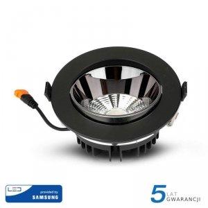 Oprawa Downlight V-TAC SAMSUNG CHIP 30W Czarna Uchylna VT-2-33 6400K 2400lm 5 Lat Gwarancji