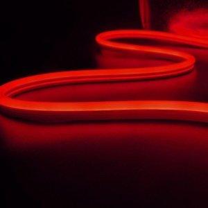 Neon Flex V-TAC 24V IP68 10mb Cięcie co 5cm 6,5W/m IP68 VT-554 Czerwony 260lm