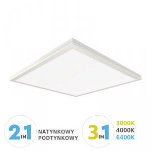 Panel LED V-TAC 600x600 40W 3w1 Natynkowy/Podtynkowy VT-6240 2700K-6400K 3200lm