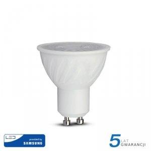 Żarówka LED V-TAC SAMSUNG CHIP 6.5W GU10 38st D VT-227 3000K 480lm 5 Lat Gwarancji
