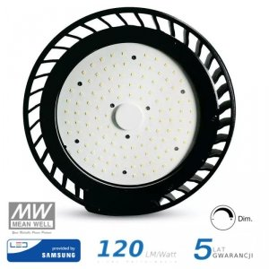 Oprawa V-TAC LED High Bay SAMSUNG CHIP 100W 120st 120lm/W 1-10V VT-9-114 5000K 12000lm 5 Lat Gwarancji