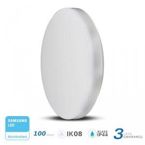 Plafon Natynkowy Okrągły V-TAC 15W LED SAMSUNG CHIP IP44 100lm/W VT-8033 6400K 1500lm 3 Lata Gwarancji