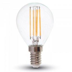 Żarówka LED V-TAC 4W Filament E14 P45 Kulka VT-1996 2700K 400lm