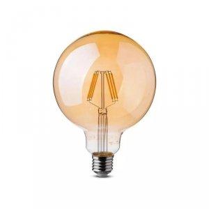 Żarówka LED V-TAC 6W Filament E27 G125 Bursztyn VT-2085 2200K 600lm