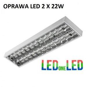 OPRAWA RASTROWA LED 2X18W IP65 230 komplet