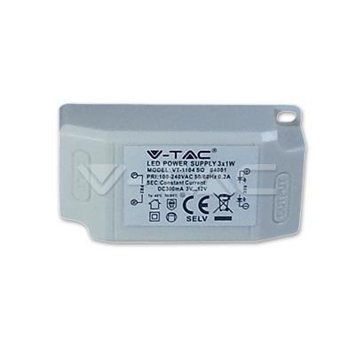 Oprawa 3W LED V-TAC Downlight COB Kwadrat Biały VT-1104SQ 3000K 240lm